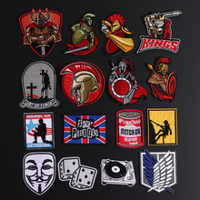 Fine Roman Warriors Patches New Poker Flags Iron-on Patches Embroidered Sewing On Applique For Clothes Apparel Sparta Badges футболка warriors iron mike черный m