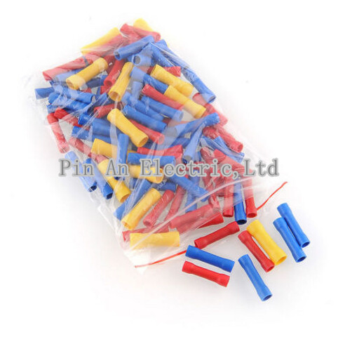 3Color 100Pcs Assortment Wire Butt Cable Insulated Electrical Terminal Connector     Be the first to write a review.BV BV1/2/5 panda electrical wire cable bvr flexiblecords 0 75 100 meters