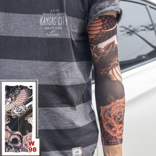 40 Cm Longueur Bras De Tatouage Manches Faux Elastique 100 Nylon