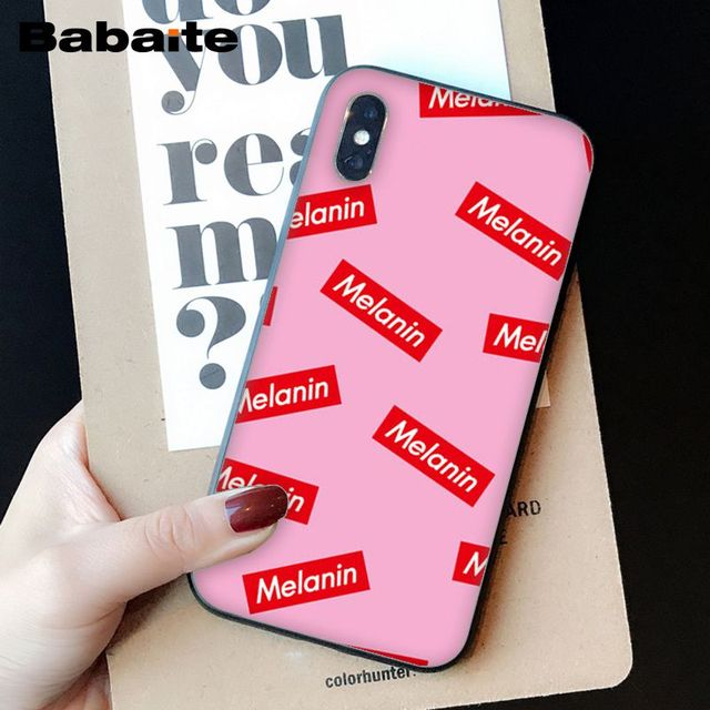 OUJDA Mélanine Poppin Aba fille DIY Impression Dessin Phone Case cover Shell pour iPhone 6 s 6 plus 7 7 plus 8 8 Plus X Xs MAX 5 5S XR 4