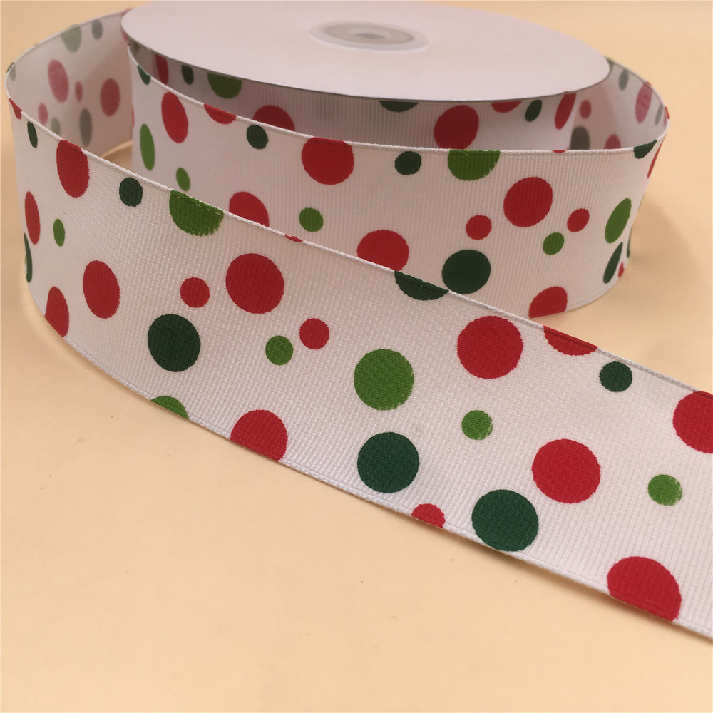38mm Polka Dot Grosgrain Ribbon Cake Hair bow Gift wrap Craft
