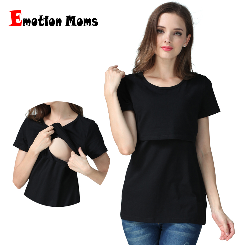 Emotion Moms graviditet Maternity kläder Maternity Top Nursing top nursing kläder Bröstmatning T-shirt för gravida Top