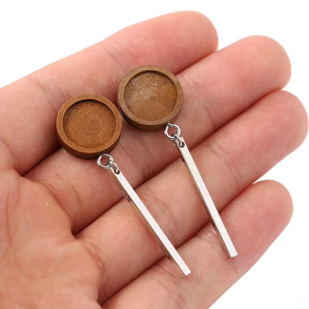 14 mm dia Ear studs blanks Earrings 10 pcs Brass Ear Stud Cabochon Settings