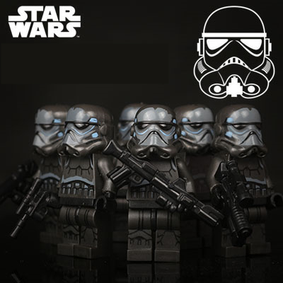 6pcs STAR WARS Black Storm Clone Trooper Leia Boba Fett ARF Shadow Guard The Force Awakens minifig Building Blocks Kids Toy marina sport by marina rinaldi повседневные брюки