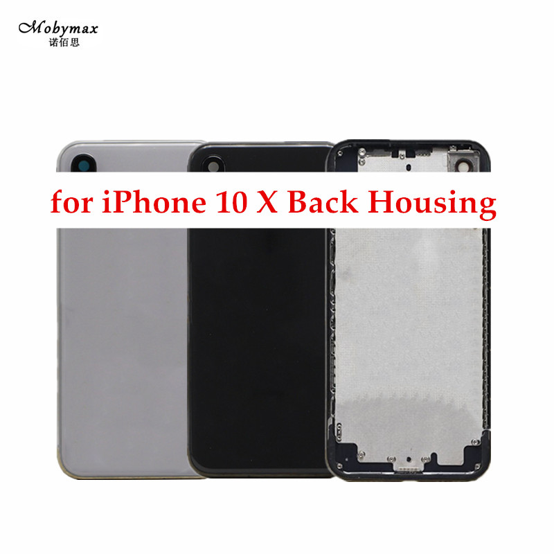 Chassis Back Housing Battery Cover Fundas for Apple iPhone X 10 Rear Door Back Frame Assembly+LOGO&Buttons&Sim Tray+Sticker+Tool