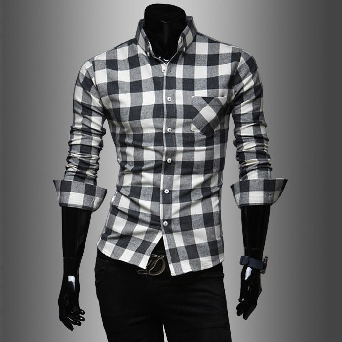 Aliexpress.com : Buy Red And Black Plaid Shirt Men 2015 New Hot ...