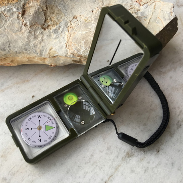 10 in 1 LED Military Camping Survival Compass Multifunction Outdoor black Whistle Compass Thermometer High Quality 10