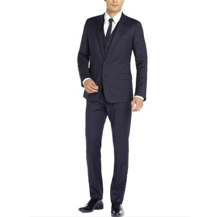 (Jacket+Pants+Vest)2019 Custom Slim Fit Cheap High Quality Men's Groom Suits Wedding Suits For Men Bussness Tuxedo Three Pieces