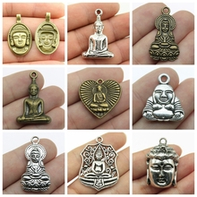 Mix Buddha Statue Charms Necklace Pendant For Jewelry Making Diy Craft Supplies Head gift