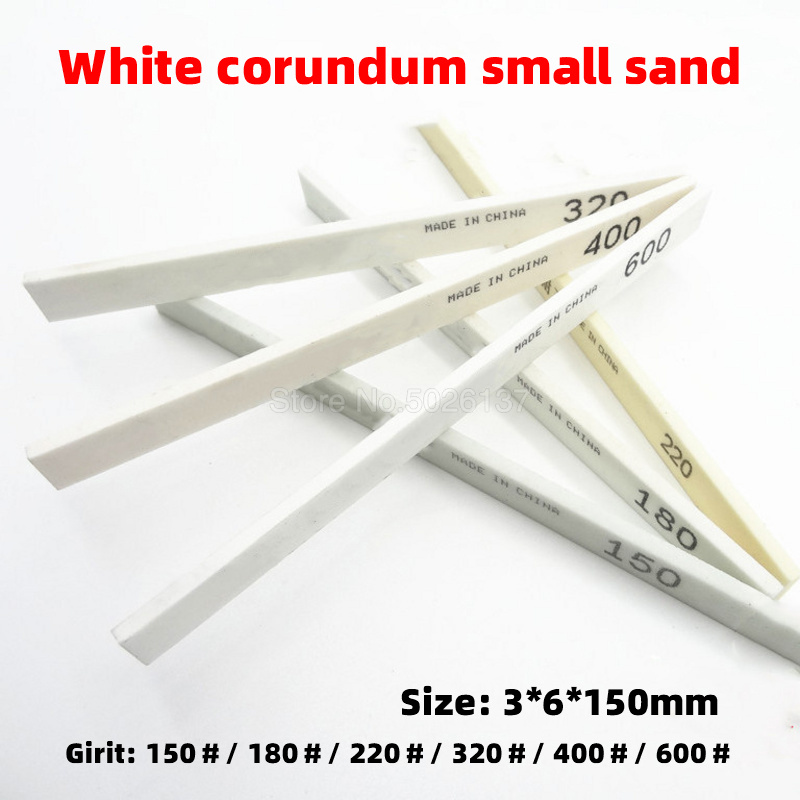 1Pcs Ceramic Tool Polishing White Sharpening Carbon High Hardness Square Corundum Whetstone Grinding Sand Oil Stone For Jade