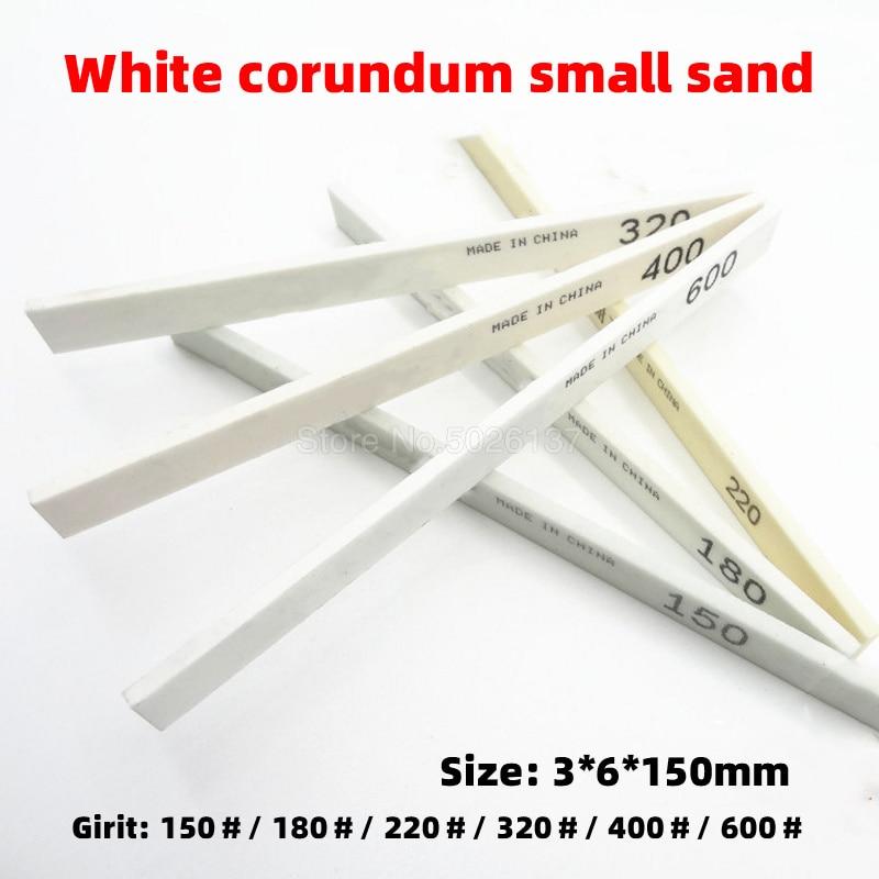1Pcs Ceramic Tool Polishing White Sharpening Carbon High Hardness Square Corundum Whetstone Grinding Sand Oil Stone For Jade