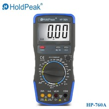 HoldPeak HP-760A 1000 Вольт и 20 Ампер Цифровой Мультиметр Метр с Емкость Сопротивления и Сумка Для Переноски