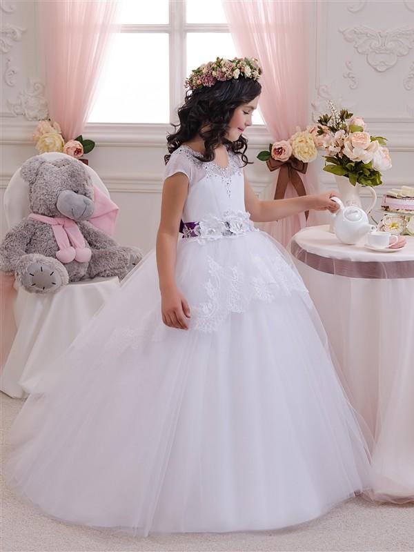 New flower girl dresses Tulle First Communion Dress little girls birthday dresses Size 4 6 8 10 12 18 month White Ivory rh7 1491 000cn cartridge fan for hp color laserjet 4600 4650 5550 4600dtn used printer parts
