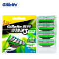 Genuine  Gilette Mach 3 Sensitive Shaving Razor Blades for Men Brands Shaver Blades With 4 Blades