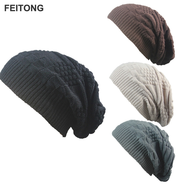 2017 Unisex Winter Hat Crochetting Beanie Men Winter Skull Caps Women  Knitting Beanie Baggy Hat Wholesale 03b683301