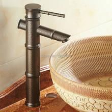 De bambu de torneiras único punho clássico estilo europeu Bacia Torneira antigo Bacia Torneira do banheiro torneiras quente e fria RB1041
