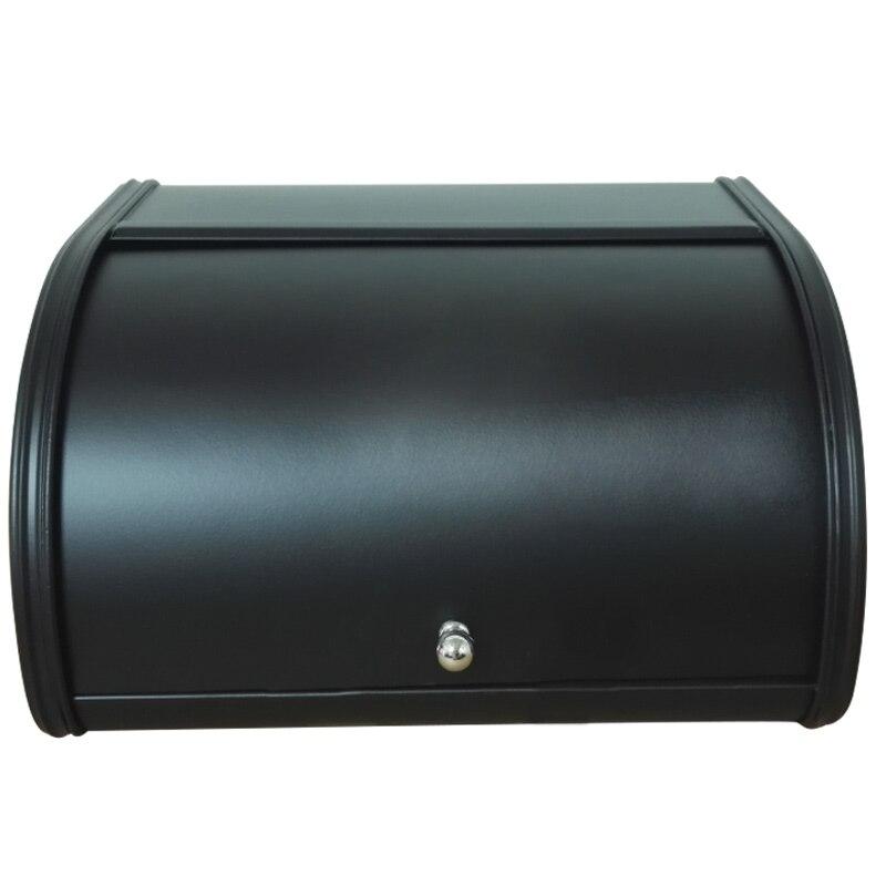 Caja de Metal Caja de pan contenedor de almacenamiento de cocina con tapa superior de rollo Caja de almacenamiento creativo HTQ99