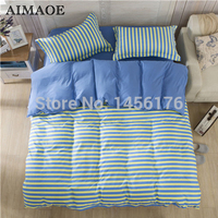 The new 2015 fashionable home textile bedding set king size stripe AB edition duvet covers pillowcase bedding CH-001