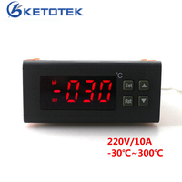 RC 114M Digital Thermostat Regulator AC 220V 10A Temperature Controller 30 300 Degree With NTC Sensor