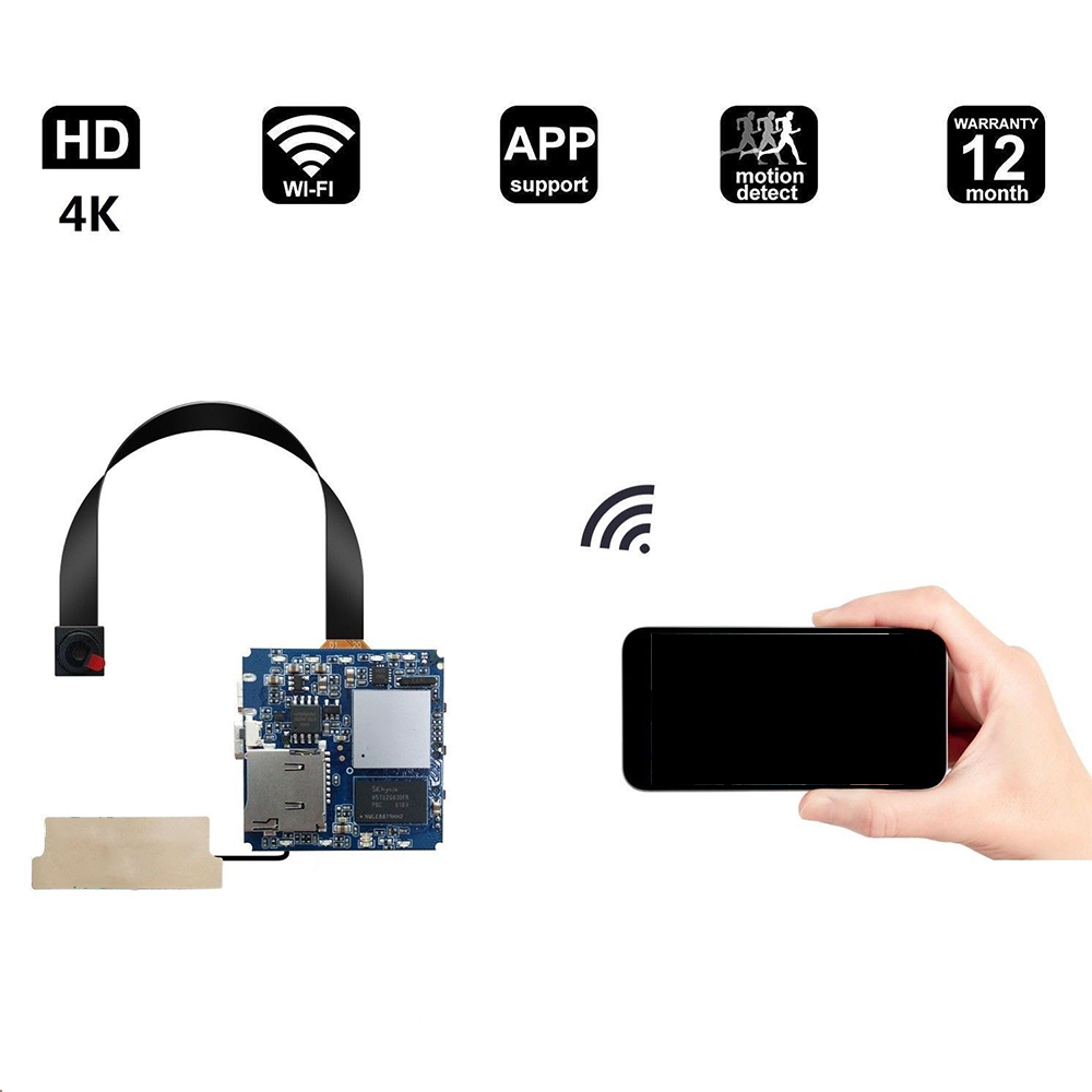Us 63 73 25 Off 4k Wireless Wifi For Hidden Cameras Wi Fi Diy Security Cam With Motion Detector For Mobile Phone Accessories In Phone Accessory