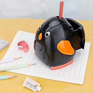 Image 2 - Kawaii Animal Automatic Electric Pencil Sharpener Mechhanical Pencil Cutting Machine Kids Birthday Gift School Stationery