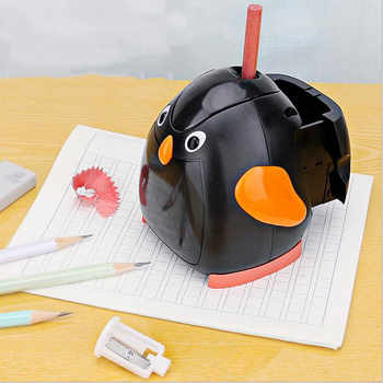 Kawaii Animal Automatic Electric Pencil Sharpener Mechhanical Pencil Cutting Machine Kids Birthday Gift School Stationery