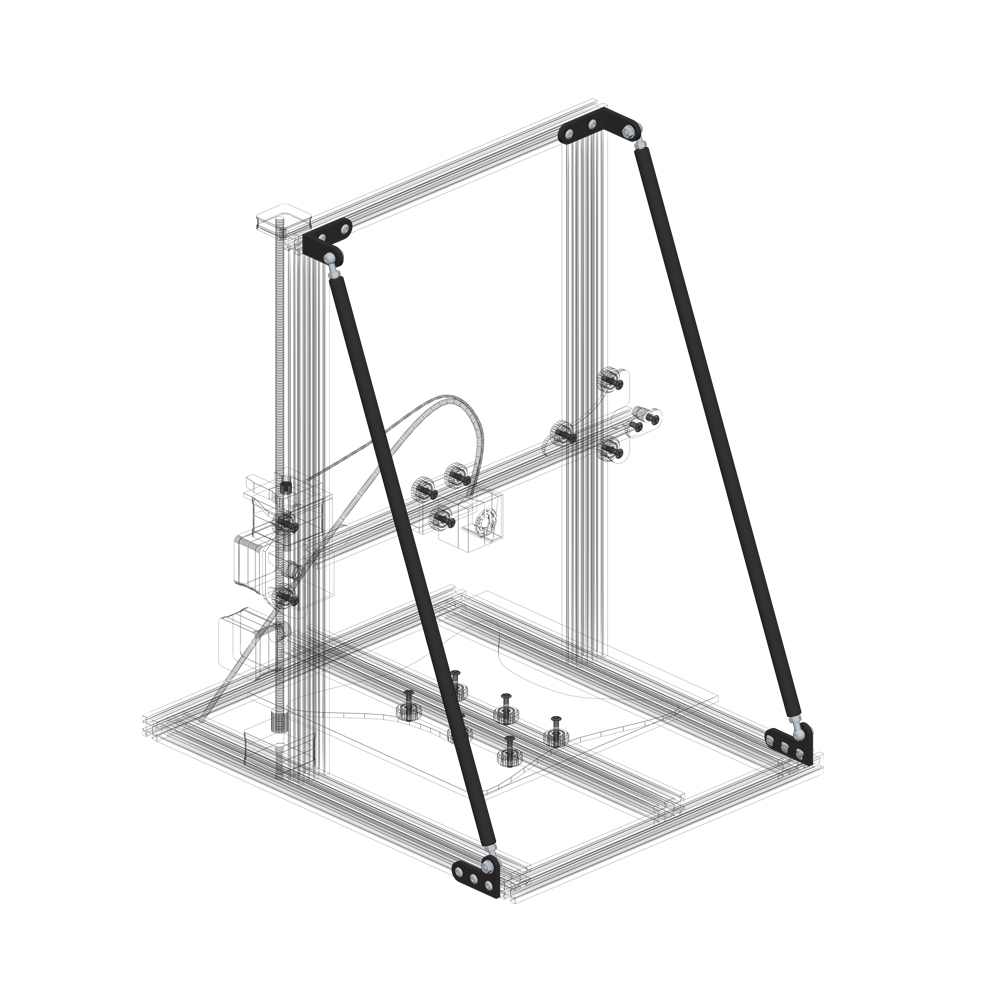 3D Imprimante Cravate Kit Support Pour Creality3d CR-10/10 s/10S4 Alfawise U20 TEVO Tornade AnetE12 BRICOLAGE De Bureau impression-SCLL