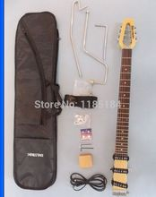 Free shipping MiniStar  Castar Travel Guitar Built in Headphone Amp electric guitar including bag цена и фото