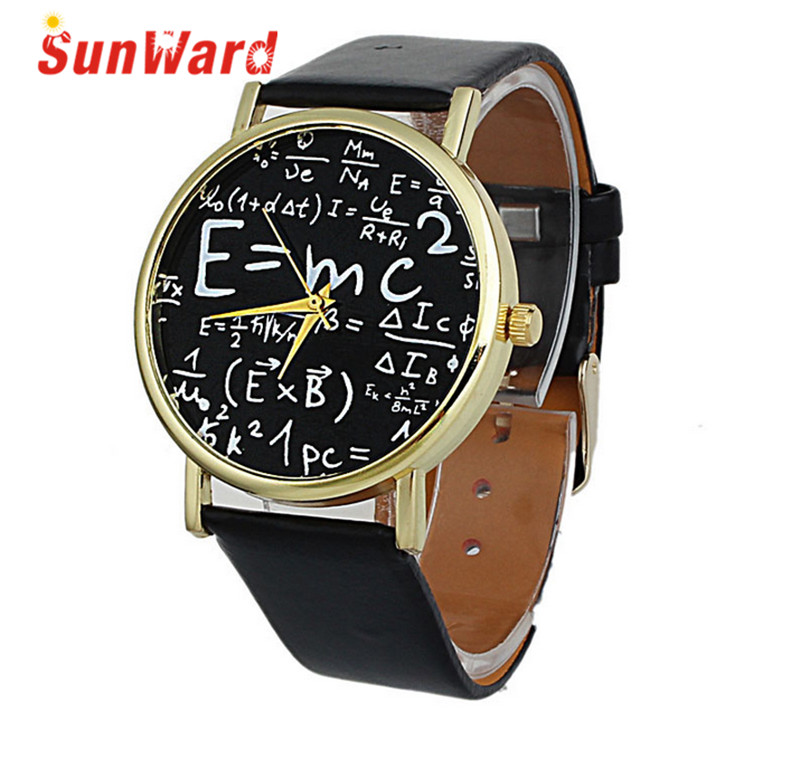 Watch Men Women Drop Shipping Relogio Feminino Gift Saat Clock Luxury Math Symbols Faux Leather Analog Quartz June16 drop shipping women simple watches luxury casual fashion women s leather quartz watch gift clock relogio feminino hot