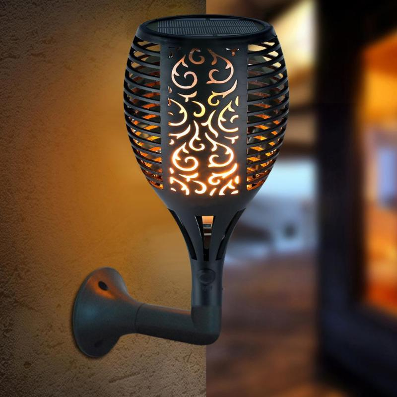 Outdoor Solar Flame Lamp 96LED Solar Flame Light Waterproof Garden Courtyard Lawn Torch Lamp