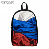 VEEVANV 2017 Country Flags Printing Backpacks Children Canvas Backpacks Laptop Shoulder Bags Teenager School Backpack Boys Girl