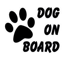 "HotMeiNi ""Dog On Board"" Funny Sticker For Car Rear Windshield Truck SUV Door Auto Bumper For All Cars Vinyl Decal JDM DUB Euro(China)"