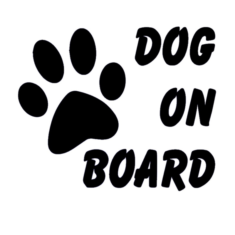 HotMeiNi Dog On Board Funny Sticker For Car Rear Windshield Truck SUV Door Auto Bumper For All Cars Vinyl Decal JDM DUB Euro ...