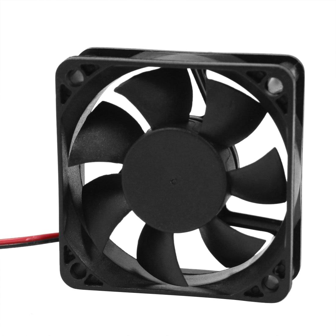 GTFS-Hot Sale DC 12V 2Pins Cooling Fan 60mm x 15mm for PC Computer Case CPU Cooler aerocool 15 blade 1 56w mute model computer cpu cooling fan black 12 x 12cm 7v