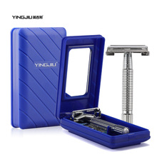 YingJiLi 2017 Durable men razor sharp old double-sided razor Screw manual razor manual razors Men care double-edge blade suits