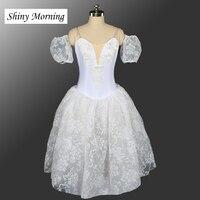 white peasant ballet costume, giselle ballet tutu,professional ballet long tutu,Napoli ballet dress,ballerina romantic tutu