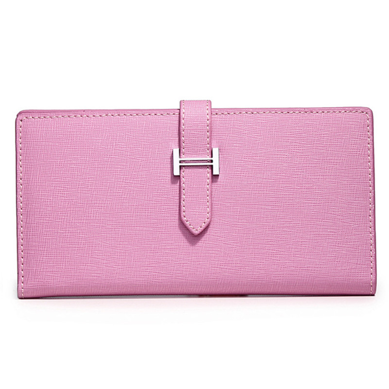 все цены на genuine saffiano Leather Wallet For Women Ladies Girl Solid Colors Long Purse Coin Wallet Female Clutch Phone Credit Card Holder онлайн