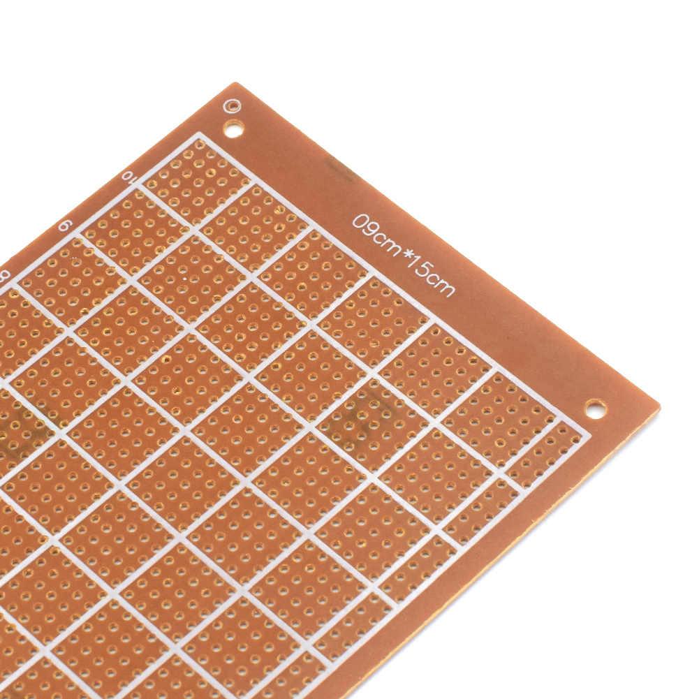 10Pcs רצועת מעגל לוח PCB 9x15cm הפרוטו טיפוס עבור DIY אלקטרוני מבחן