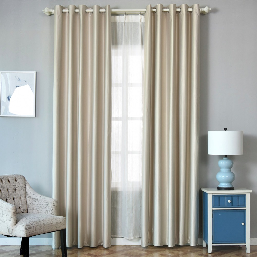 Blackout Curtain Treatment Shade darken Full Short Living Bedroom 100% Modern Block room Curtain sunlight Window Room