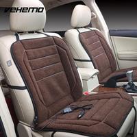 Vehemo 1Pc Berber Fleece 12V Electric Heater Car Seat Cover Comfortable Car Accessories Automobile Heated Cushion Heating Pad