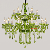 Large Luxury Crystal Chandelier Fashion Modern Large Chandelier Light Lustres Dinning Room American Country Crystal