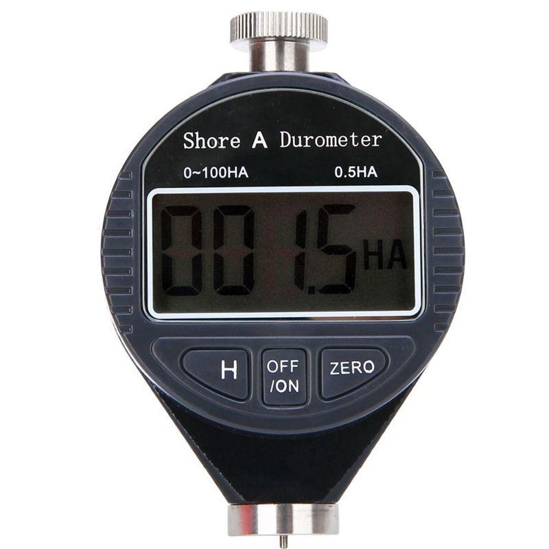 Aletler'ten Sertlikölçerler'de 1 adet yeni dijital sertlik durometre test cihazı 0 100HA Shore A LCD metre kauçuk plastik deri çok gres balmumu title=