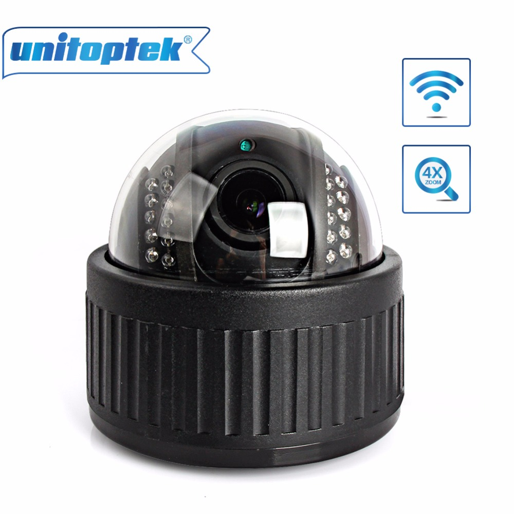 Wireless Speed Dome PTZ IP Camera Wifi HD 960P Auto Focus 4X Zoom 2.8-12mm Indoor Audio SD Card IR Night Onvif P2P Security Cam 4pcs lot 960p indoor night version ir dome camera 4 in1 camera 3 6mm lens p2p onvif abs plastic housing