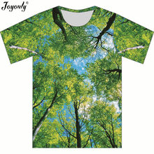Joyonly Children Fashion Trees Forest Blue Sky T-shirt For Boy Girls Tees  Tops Clothes Kids 2018 Summer Short Sleeves T shirts 58de95a0fe72