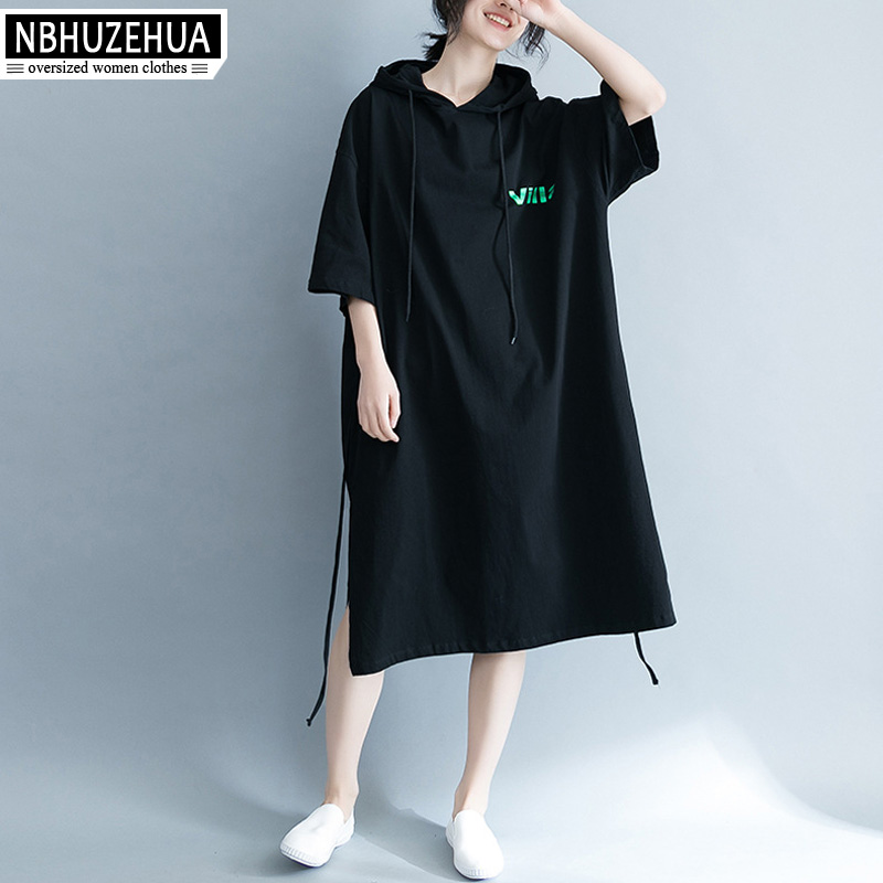 Detail Feedback Questions about NBHUZEHUA A301 Women s Plus Size Dress  Harajuku Hooded T Shirt Dress Big Size Casual Ladies Dress Summer Clothes  4XL 5XL 6XL ... 245682e5fafc