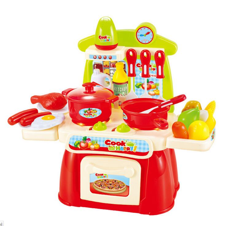 Electronic Sound And Light Simulation Kitchen Cooking Baby Girl Toys