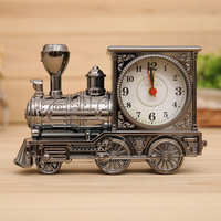 Vintage Style Train Alarm Clock Plastic Retro Desktop Battery Alarm Fitness House Decoration Alarme Maison Free