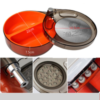 Outdoor Fishing Equipment Round Three-layer Bait Tray Strong Magnetic Fishing Bait Box  Insertion Fishing Box Bait Box