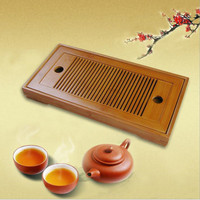 Tea Tray High Quality Mini Bamboo Kungfu Tea Tray for Chinese Tea Set ,28cm*15cm Teatable