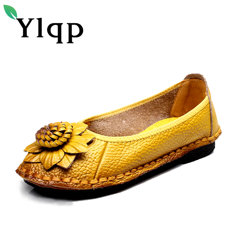 2017 New National Wind Flowers Handmade Genuine Leather Shoes Women Retro Soft Bottom Flat Shoes Summer Canvas Ballet Flats new national wind flowers handmade genuine leather shoes women retro soft bottom flat shoes summer canvas ballet flats k62